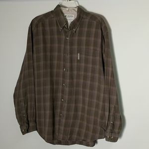 Columbia Button Down Flannel Shirt Sz L